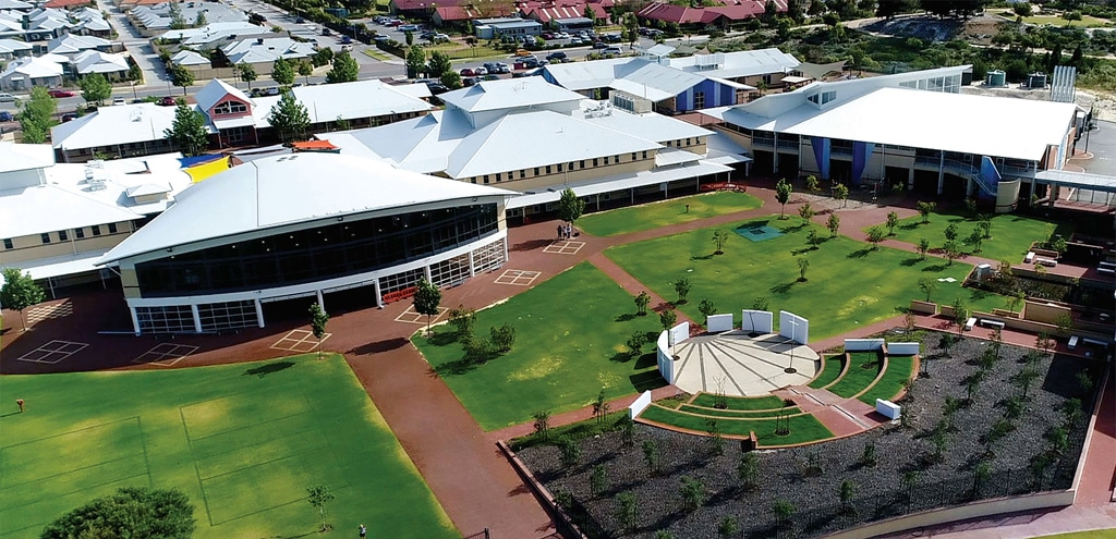 Holy Cross College Ellenbrook Aireal View